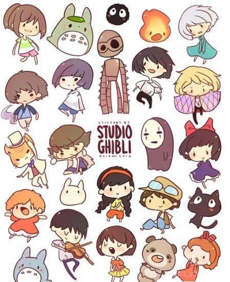 宫崎骏老爷爷笔下的可爱的角色们Q版,每个都那么萌啊~~~无脸男你天然呆!