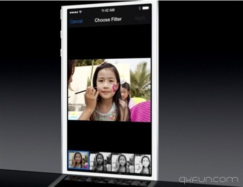 苹果iOS7新界面 - 清新范(Qxfun.com)