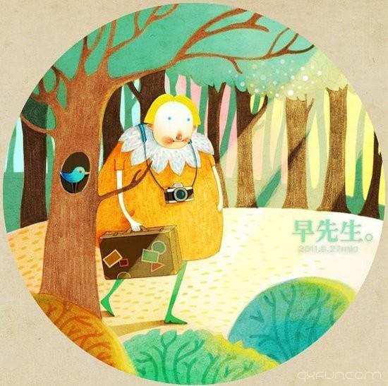 亲爱的早先生早安,你好 -清新范(Qxfun.com)