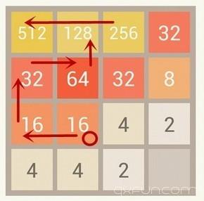 2048游戏技巧:反败为胜得高分 - 清新范(Qxfun.com)