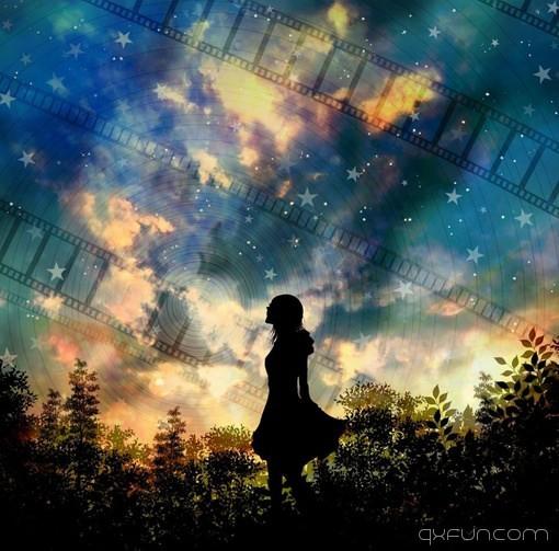 总有那么一个人安静的躺在你的记忆里 - 清新范(Qxfun.com)