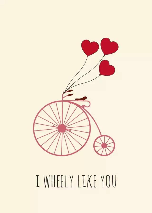一组充满爱意的温馨插画:我真的很爱你