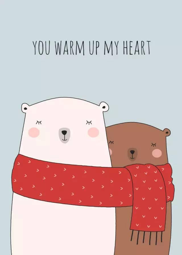 一组充满爱意的温馨插画:你温暖我心