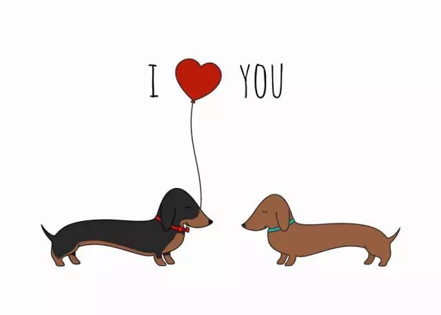 一组充满爱意的温馨插画:我爱你