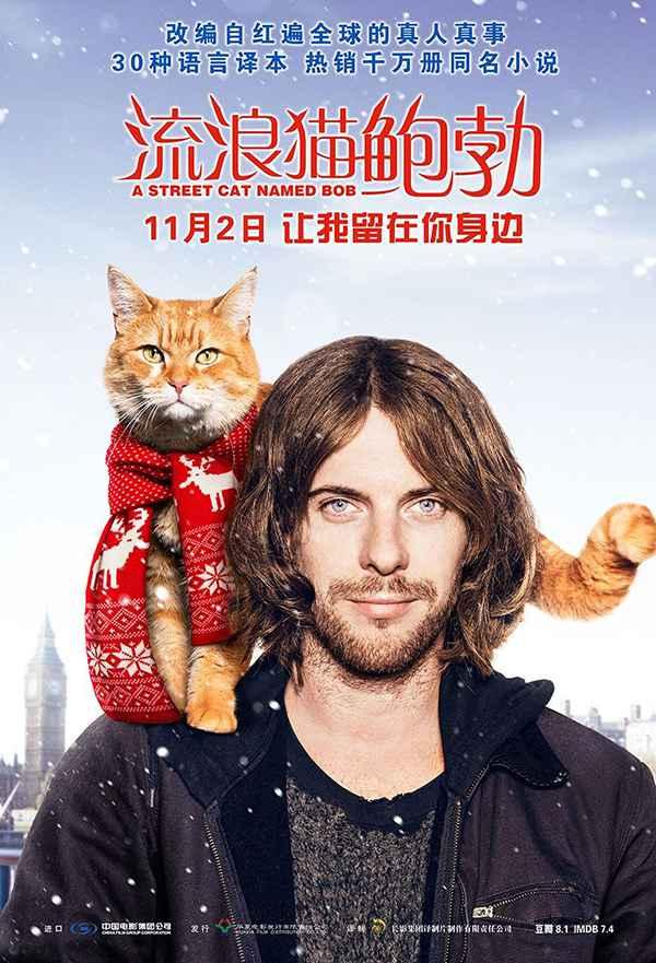 [电影][流浪猫鲍勃.A Street Cat Named Bob][2016][英语音轨.中英双语字幕]720P+1080P百度云下载